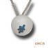 Blauwe vlek in zilver. KH015