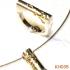 Zilveren hanger met gouden tranen. KH035