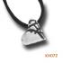 Zilveren hart. KH072