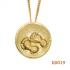 """Hanger """"voetjes in een buik van goud"""" KG019"""