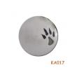 Zilveren hanger met Hondenpootje gevuld met as. KA017