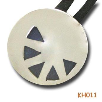Zilveren hanger met titanium wiebertjes KH011