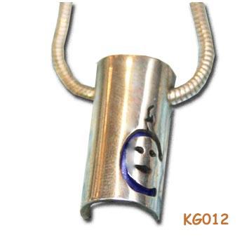 """Geboortehanger van zilver """"donderkopje"""" KG012"""