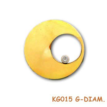 Een diamantje in goud om te koesteren. KG015G-Diam.