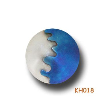 """Zilveren hanger """"Halfje titanium"""" KH018"""