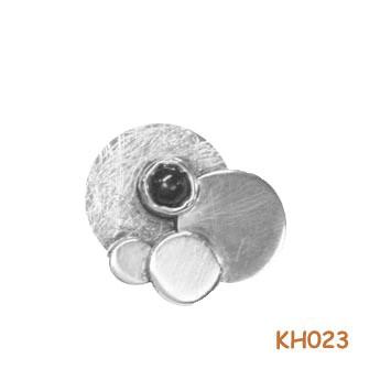 Zilveren hanger met onyx. KH023