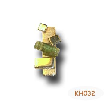 Prachtige hanger met groene Toermalijn. KH032
