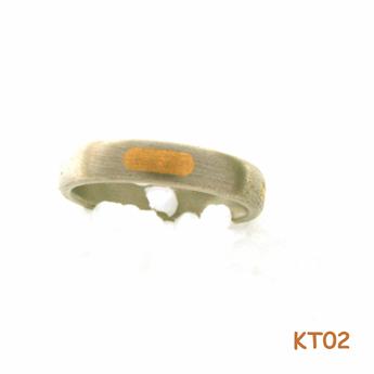Titanium ring met goud 12834