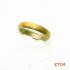 Titanium ring met goud