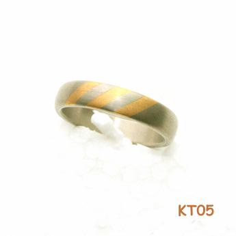 Titanium ring met goud 12833
