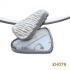 Zilveren hanger met rutielkwarts. KH078