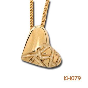 """Gouden hart """"Liefde van goud"""" KH079"""