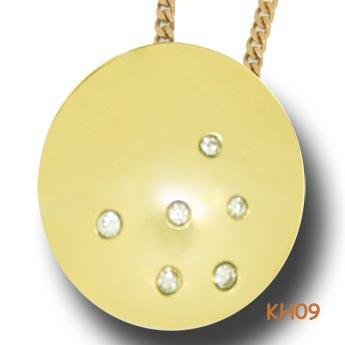 Gouden hanger met diamant KH077