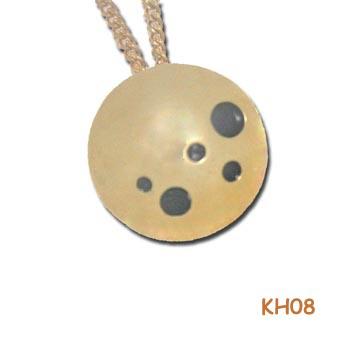 """Gouden hanger """"stippeltje"""" KH08"""