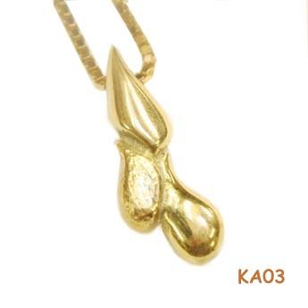 """Gouden rouwsieraad """"tranen"""" KA03"""