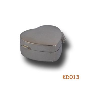 Zilveren doosje hart KD013