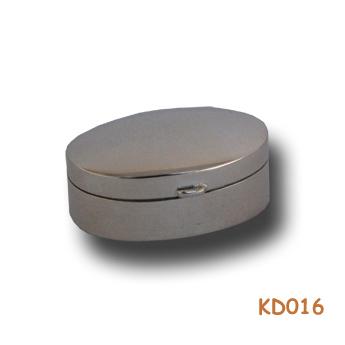 Zilveren doosje ovaal KD016
