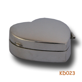 Zilveren doosje hart KD023