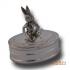 """Zilveren doosje """"Konijn"""" KD521"""