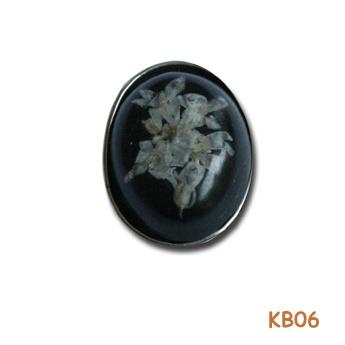 Zilveren hanger met bloemen. KB06