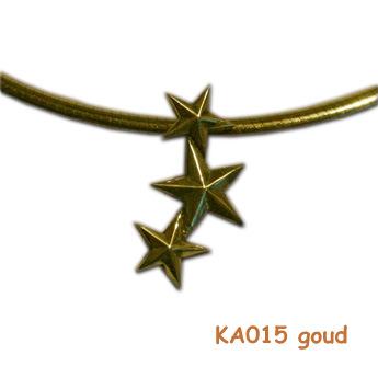 """Gouden herinneringshanger """"sterren"""" KA015 goud"""